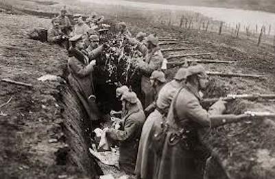 world war trench